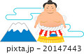 横綱と富士山イラスト 20147443