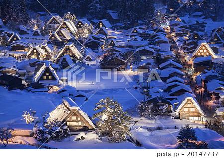 【岐阜県】冬の白川郷 20147737