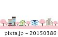 家 桜 春のイラスト 20150386