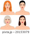 Women  with different hairstyles. 20153079