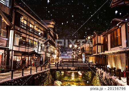 銀山温泉の雪景色 20156796