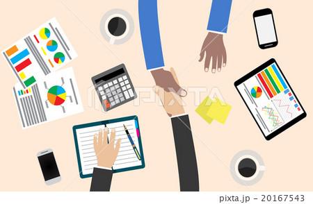 business partner handshake のイラスト素材 20167543 pixta