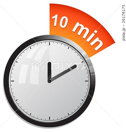 timer 10 minutes vector illustrationのイラスト素材 20176175 pixta