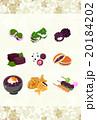 いろいろな和菓子を描いたポストカード 20184202