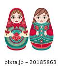 マトリョーシカ お人形さん 人形のイラスト 20185863