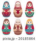 マトリョーシカ お人形さん 人形のイラスト 20185864