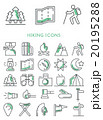 Hiking icons set 20195288