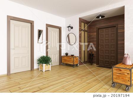 Hall interior 3d renderのイラスト素材 [20197194] - PIXTA
