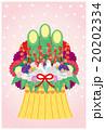 門松 鳩 鳥のイラスト 20202334