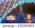 クリスマスツリー 街 イルミネーションの写真 20205803