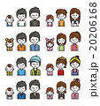 人物 セット バリエーションのイラスト 20206168