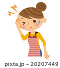 頭痛 女性 主婦のイラスト 20207449