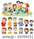 家族 人物 三世代のイラスト 20209231