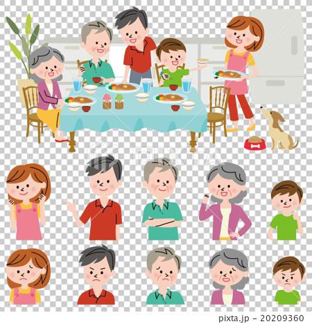 家族 食事 20209360