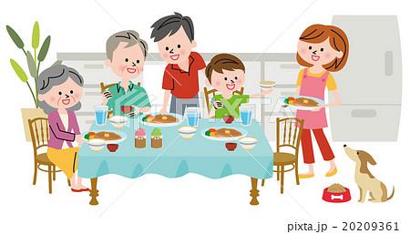 家族 食事のイラスト素材 20209361 Pixta