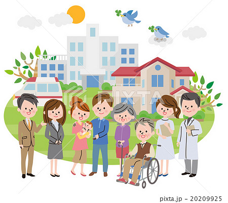 病院 人物 町並み 20209925