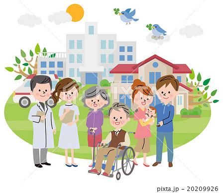 病院 人物 町並み 20209926