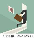 ビジネスマン 実業家 ドアのイラスト 20212531