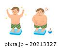 肥満 痩せる 体重計のイラスト 20213327