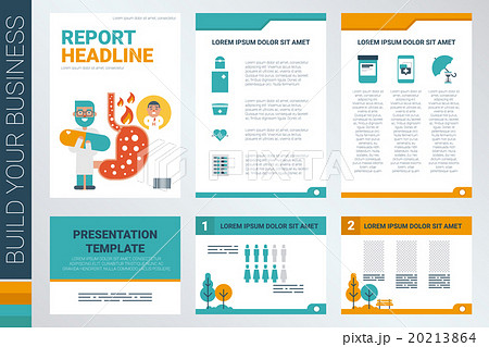 annual report book cover and presentation templateのイラスト素材