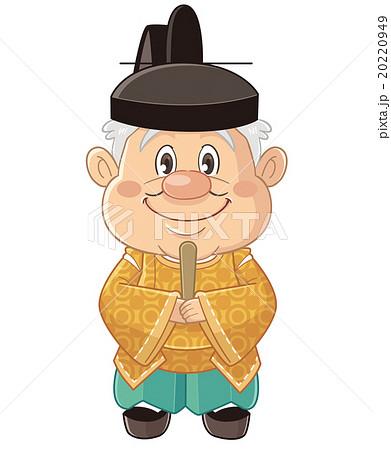 烏帽子・狩衣姿の神主さまのコミカルでかわいい人物イラスト | いわたまさよし 20220949
