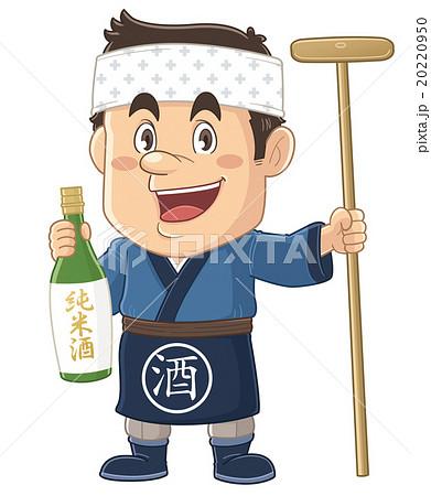 お酒を造る杜氏・蔵人のコミカルでかわいい人物イラスト | いわたまさよし 20220950