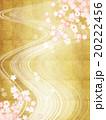流れ 桜 和のイラスト 20222456