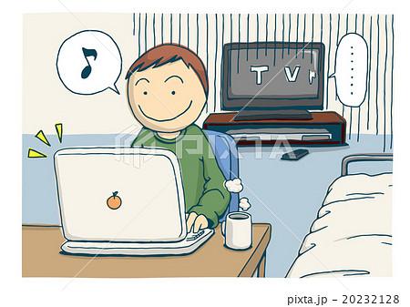 インターネットによるテレビ離れのイメージイラスト 20232128