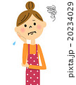 女性 悩む 困り顔のイラスト 20234029