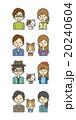 夫婦とペット【シンプルキャラ・シリーズ】 20240604