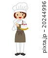 パティシエ 女性 菓子職人のイラスト 20244996