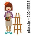 画家 - 働く女性 20245538