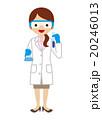 女性 研究員 化学者のイラスト 20246013