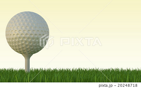 Golf ball on the green lawn 20248718