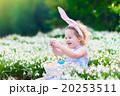 Little girl on Easter egg hunt 20253511