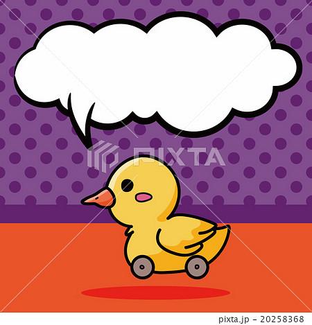 toy duck doodle, speech bubbleのイラスト素材 [20258368] - PIXTA
