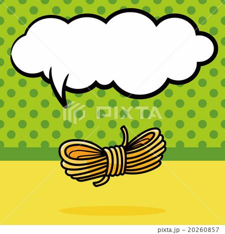 rope doodle, speech bubbleのイラスト素材 [20260857] - PIXTA