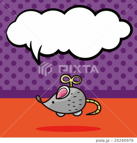 Mouse Toys doodle, speech bubbleのイラスト素材 [20260976] - PIXTA