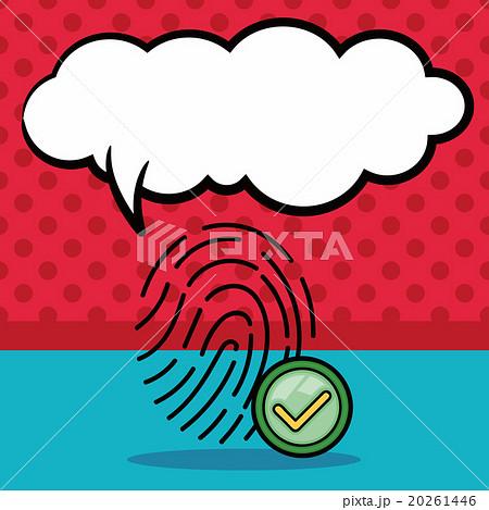 Fingerprint machine doodle, speech bubbleのイラスト素材 [20261446] - PIXTA