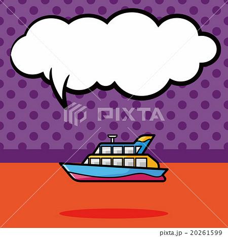 boat doodle, speech bubbleのイラスト素材 [20261599] - PIXTA