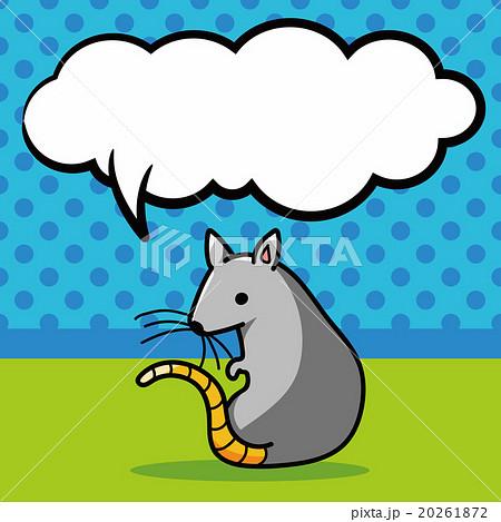mouse doodle, speech bubbleのイラスト素材 [20261872] - PIXTA
