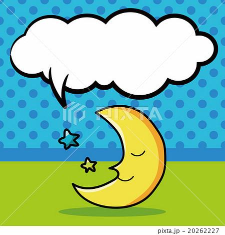 moon doodle, speech bubbleのイラスト素材 [20262227] - PIXTA