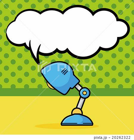 lamp doodle, speech bubbleのイラスト素材 [20262322] - PIXTA