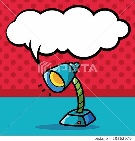lamp color doodle, speech bubbleのイラスト素材 [20262979] - PIXTA
