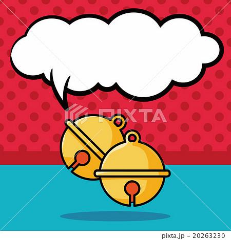 Christmas bell doodle, speech bubbleのイラスト素材 [20263230] - PIXTA