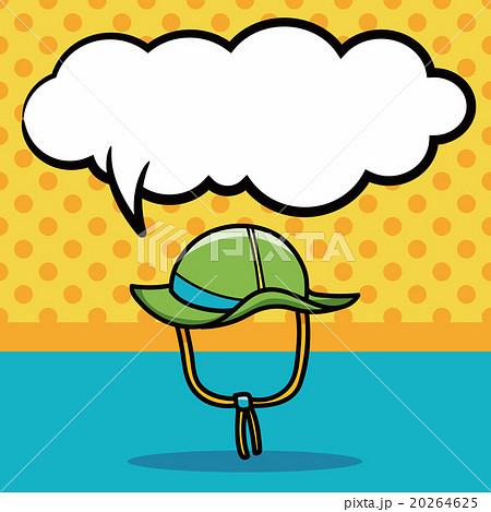 sun hat doodle, speech bubbleのイラスト素材 [20264625] - PIXTA