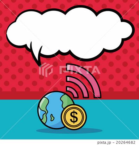 globe doodle, speech bubbleのイラスト素材 [20264682] - PIXTA