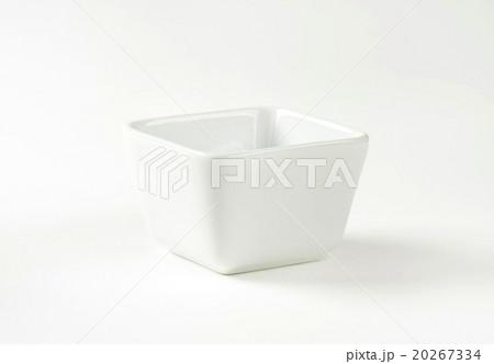Rounded square white bowlの写真素材 [20267334] - PIXTA