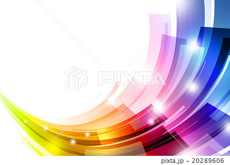 背景 虹色 アブストラクトのイラスト素材 [20289606] - PIXTA