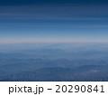 【上空素材】雪が残る山脈上に広がる青空 20290841